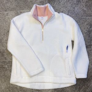 Old Navy sherpa half zip pullover